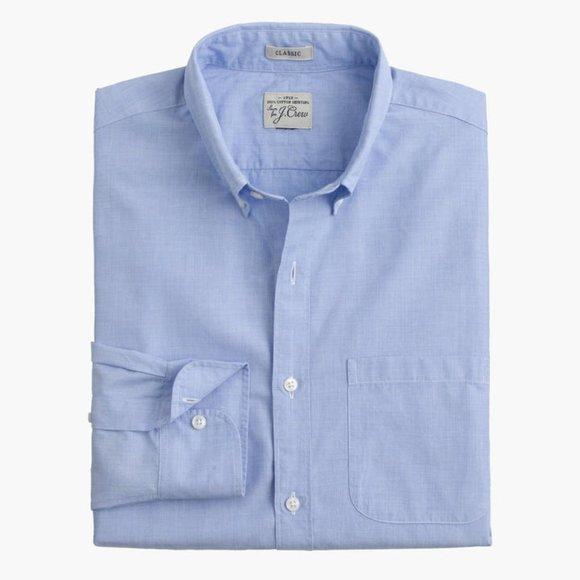 J Crew Classic Secret Wash Shirt-End On End Cotton